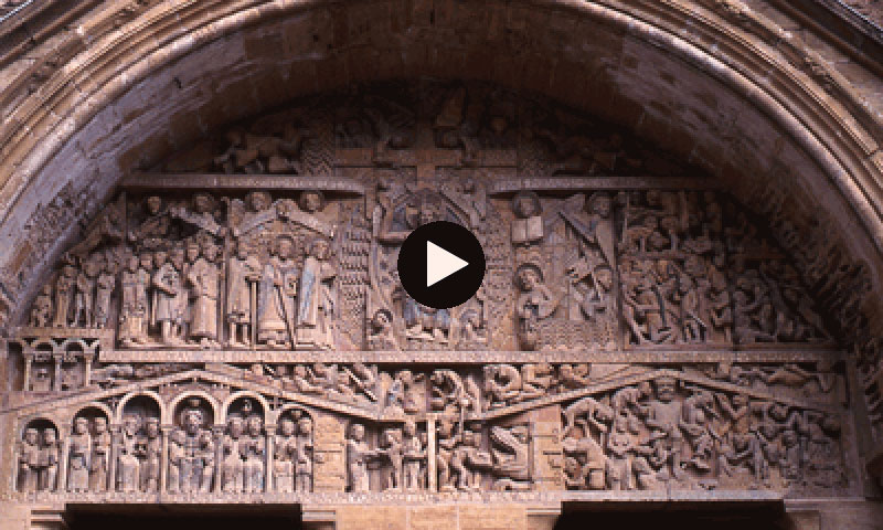 Video: Sainte-Foy de Conques West Door Tympanum