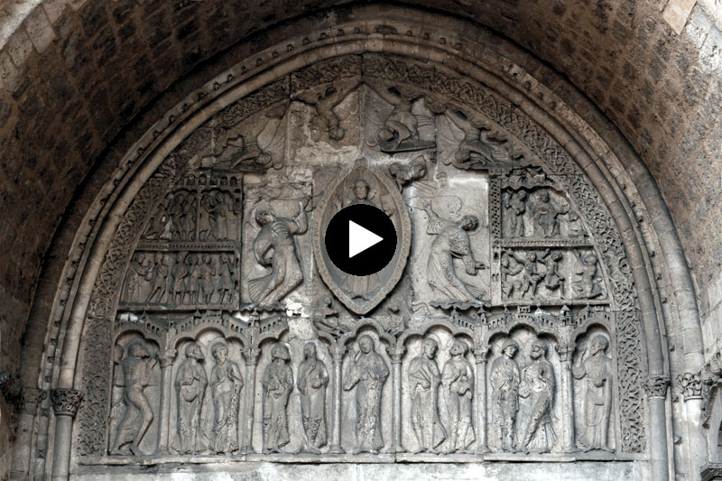 Video: Cahors Cathédrale Saint Etienne North Porch Tympanum
