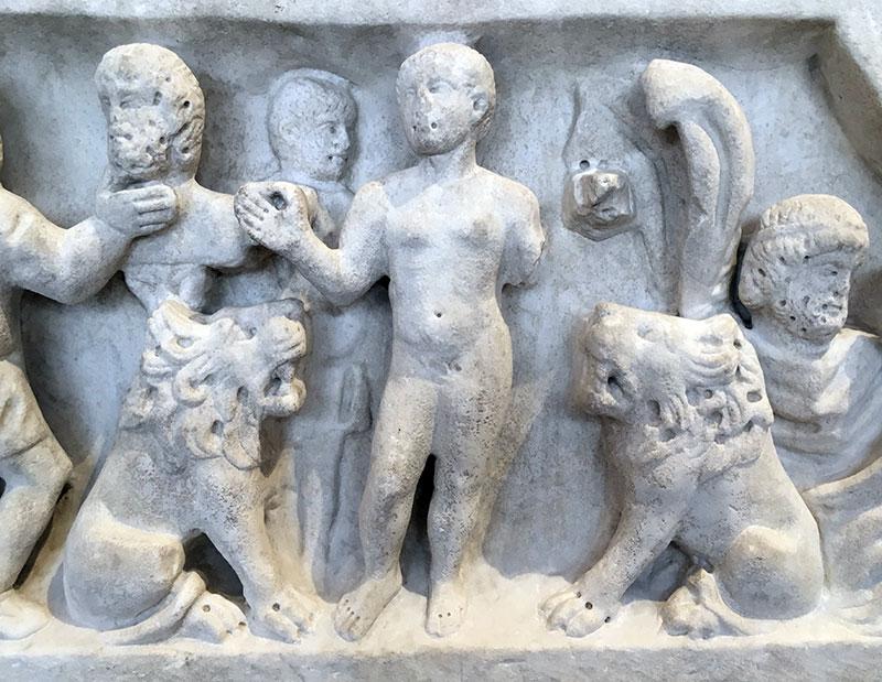 Daniel in the Lion's Den, Sarcophagus De La Chaste Suzanne, Mid IVth, Alyscans, Arles