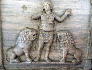Daniel in the Lion's Den, Sarcophagus San Giovanni Battista, Ravenna
