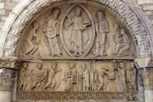 Notre-Dame de la Charité-sur-Loire, Tympanum of the Transfiguration