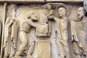 La Charité-sur-Loire, The Transfiguration Tympanum, Lintel, The Presentation in the Temple
