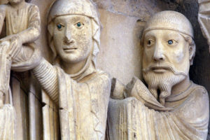 La Charité-sur-Loire, The Transfiguration Tympanum, The Presentation in the Temple Lintel, Mary and Joseph