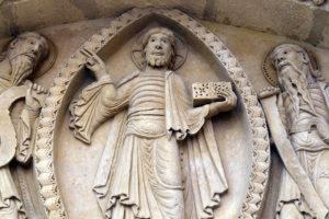 La Charité-sur-Loire, The Transfiguration Tympanum, Christ, Moses and Elijah