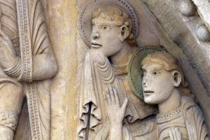 La Charité-sur-Loire, The Transfiguration Tympanum, Apostles John and James,