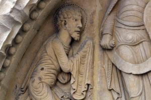 La Charité-sur-Loire, The Transfiguration Tympanum, Apostle Peter