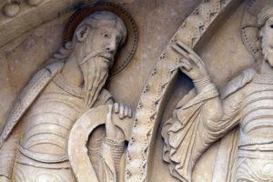 La Charité-sur-Loire, The Transfiguration Tympanum, Moses