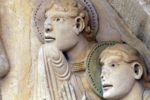 Notre-Dame de la Charité-sur-Loire, The Transfiguration Tympanum, Apostles James and John