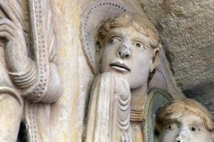 Notre-Dame de la Charité-sur-Loire, The Transfiguration Tympanum, Apostle John