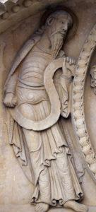 Notre-Dame de la Charité-sur-Loire, The Transfiguration Tympanum, Moses