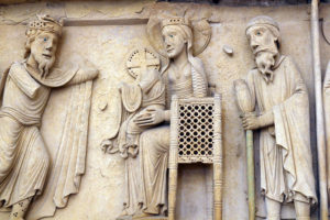 La Charité-sur-Loire, The Transfiguration Tympanum, Lintel, Adoration of the Magi