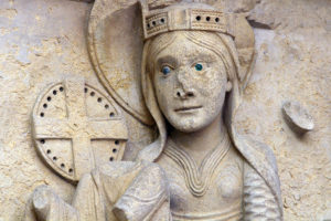 La Charité-sur-Loire, The Transfiguration Tympanum, Lintel, Adoration of the Magi, Mary
