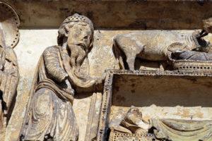 La Charité-sur-Loire, Tympanum of the Virgin, Nativity