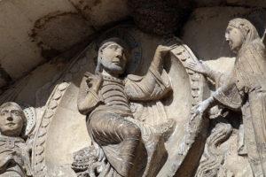 La Charité-sur-Loire, Tympanum of the Virgin, Christ