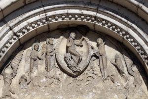 La Charité-sur-Loire, Tympanum of the Virgin