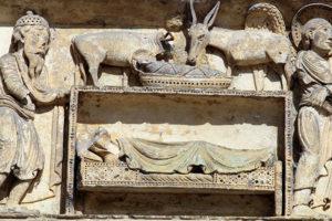 La Charité-sur-Loire, Tympanum of the Virgin, The Nativity