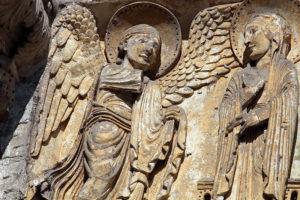 La Charité-sur-Loire, Tympanum of the Virgin, The Annunciation
