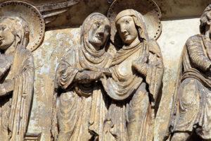 La Charité-sur-Loire, Tympanum of the Virgin, The Visitation