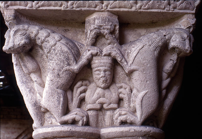 Daniel in the Lion's Den Capital Cloister Saint-Pierre Moissac