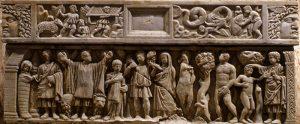 Daniel in the Lion's Den, Sarcophagus of Sainte Quiterrie, Aire-sur-l'Adour