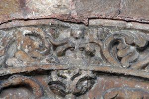 Porch Relief Tympanum Saint Ursin de Bourges Detail