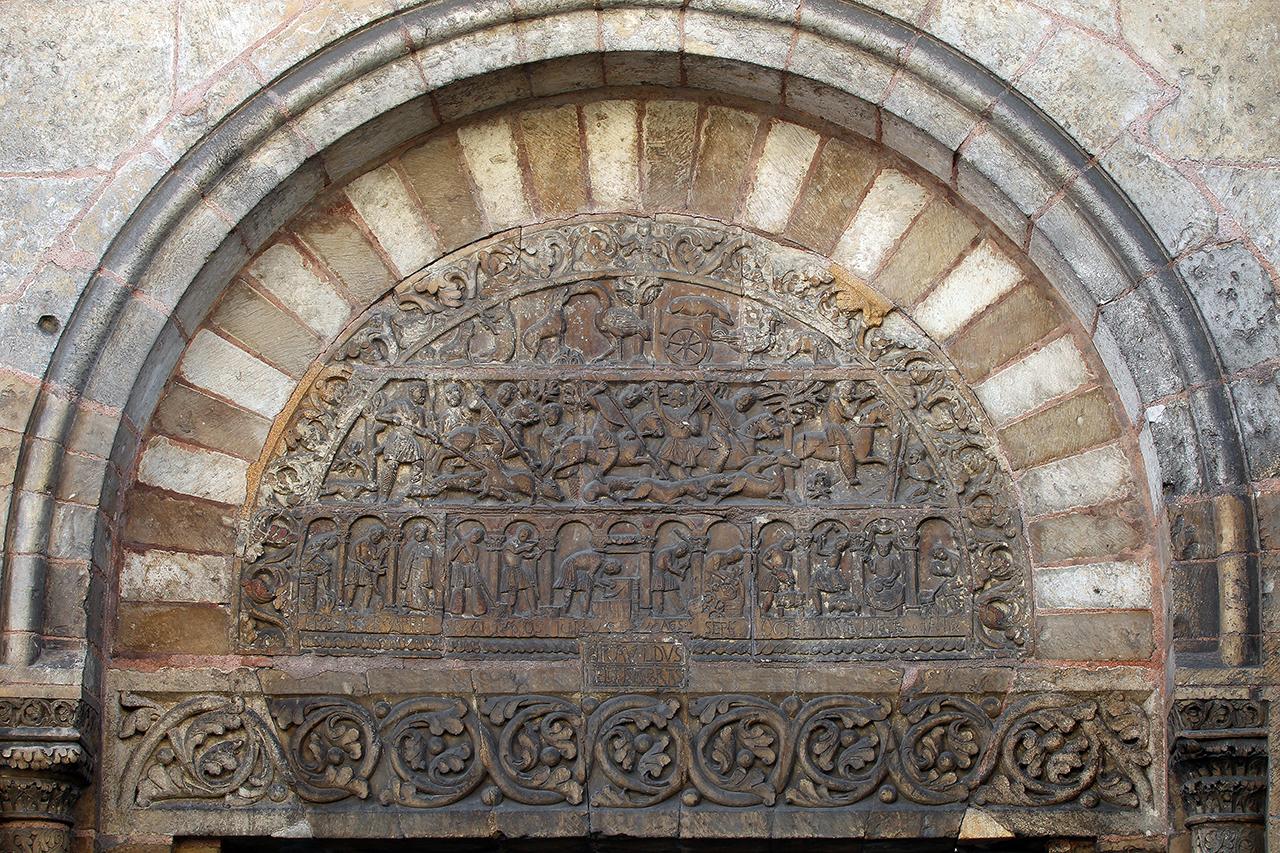 Porch Relief Tympanum Saint Ursin de Bourges