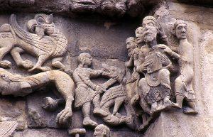 Sangüesa, Santa María la Real, Facade Detail