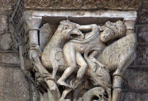 Souillac, Sainte-Marie, Man, Bird and Lion Capital