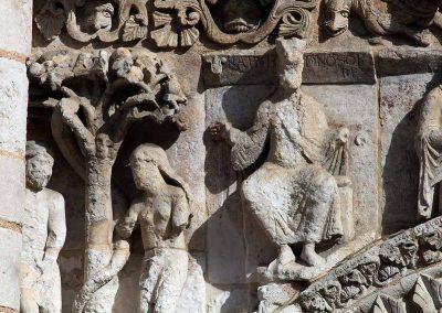 Poitiers Notre-Dame-la-Grande Nebachudnezzar Adam and Eve