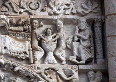 Poitiers Notre-Dame-la-Grande The Nativity Bathing the Infant Jesus Joseph