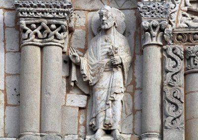 Poitiers Notre-Dame-la-Grande Upper Level Arcade Saint Peter