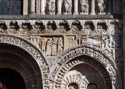 Poitiers Notre-Dame-la-Grande The Visitation and Nativity