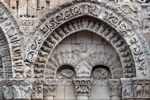 Poitiers Notre-Dame-la-Grande Ground Level Blind Arcade and Niches