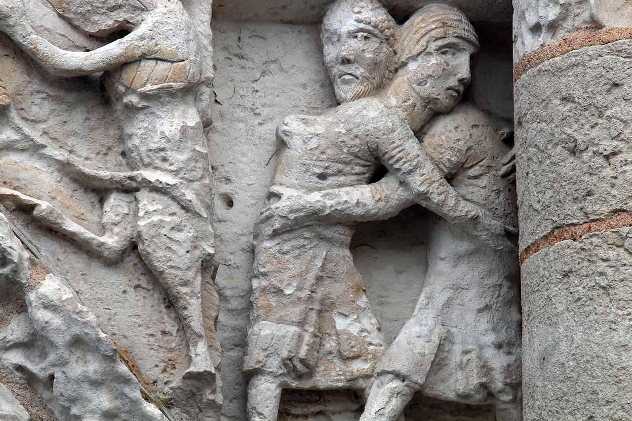 Poitiers Notre-Dame-la-Grande, Jacob Wrestles an Angel