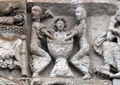 Poitiers Notre-Dame-la-Grande The Nativity Bathing the Infant Jesus