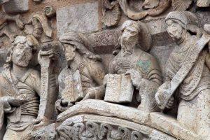 Poitiers Notre-Dame-la-Grande Daniel, Jeremiah, Isaiah, Moses