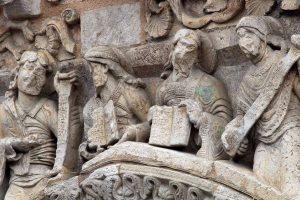 Poitiers Notre-Dame-la-Grande, Daniel, Jeremiah, Isaiah, Moses