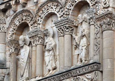 Poitiers Notre-Dame-la-Grande Upper Level Arcades Saint Peter, Apostle and Bishop