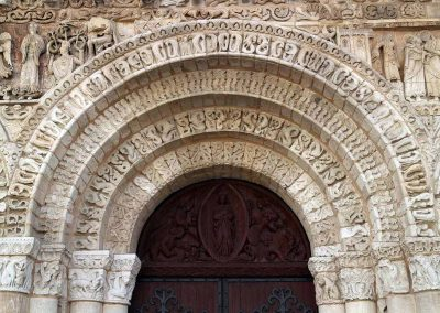Poitiers Notre-Dame-la-Grande Ground Level Main Entrance Arch and Frieze