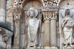 Poitiers Notre-Dame-la-Grande Upper Level Arcades Apostle and Cleric