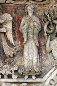 Poitiers Notre-Dame-la-Grande The Annunciation Virgin Mary