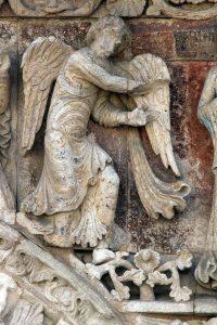 Poitiers Notre-Dame-la-Grande The Annunciation Archangel Gabriel