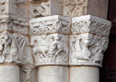 Poitiers Notre-Dame-la-Grande Ground Level Main Door Capitals