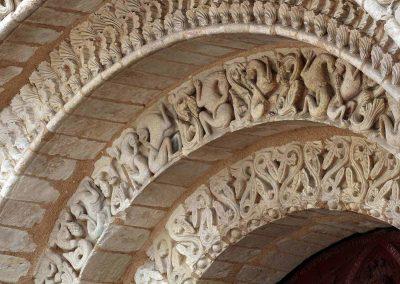 Poitiers Notre-Dame-la-Grande Ground Level Main Entrance Arch Voussoirs