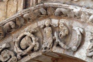 Poitiers Notre-Dame-la-Grande Ground Level Blind Arcade Voussoirs