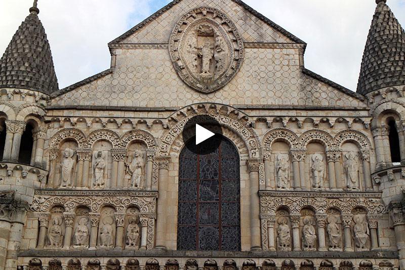 Video: Facade Notre-Dame-la-Grande de Poitiers