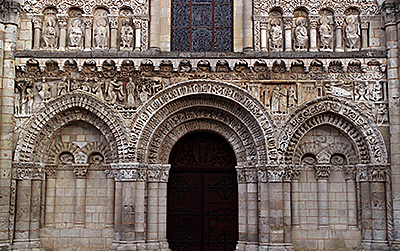 Picture Gallery: Facade of Poitiers Notre-Dame-la-Grande